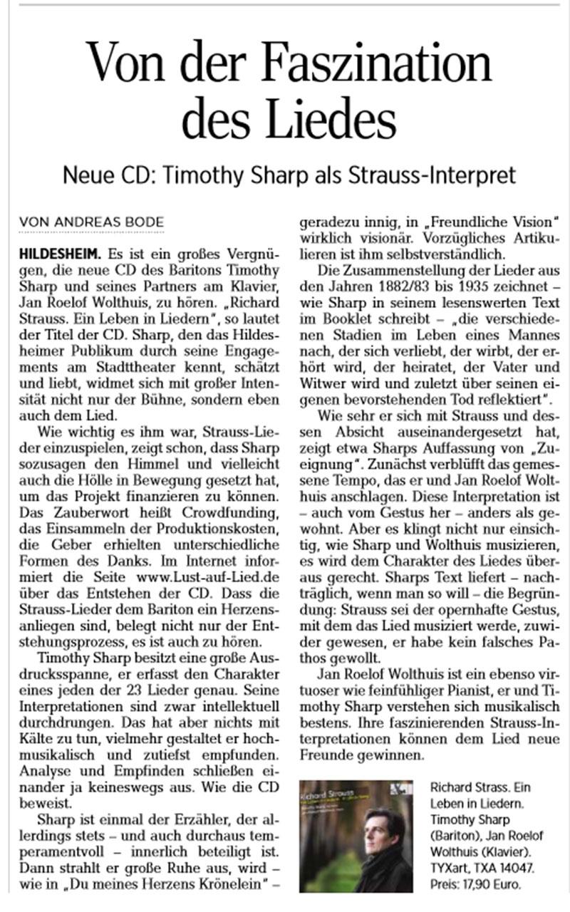 Besprechung Strauss-CD HAZ